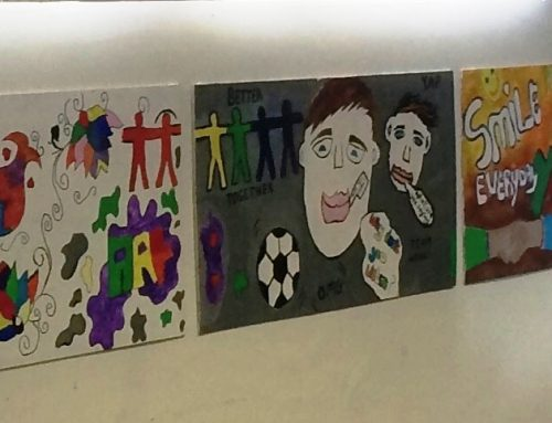Young People Create a Mural for the Training/Participation Room in YAP Dublin Head Office